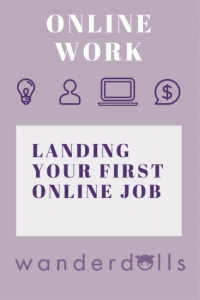 Work Remotely - land your first online job