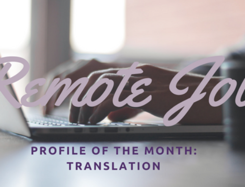 Remote Job of the Month: Translation