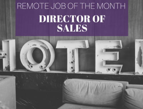 Remote Job Profile – Hotel Director of Sales