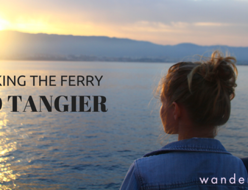 Taking the ferry to Tangier-Med, Morocco